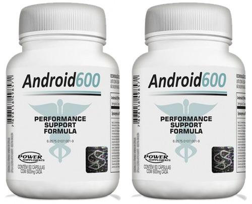 2 potes android 600 120cáp préhormonal / ph20 / testosterona