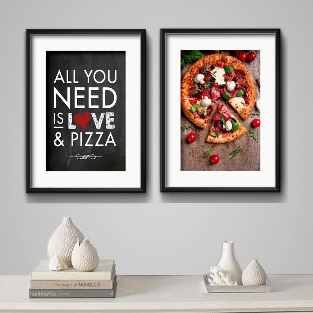 2 Quadros Pizza Frase Cozinha Decoracao Pizzaria Paspatur R 369