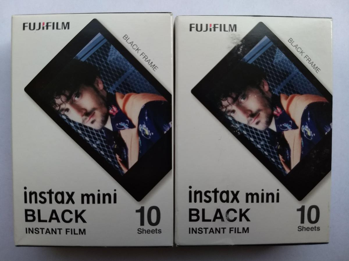 2 Rollos (20 Fotos) Fujifilm Instax Mini Marco Negro + Envio ...