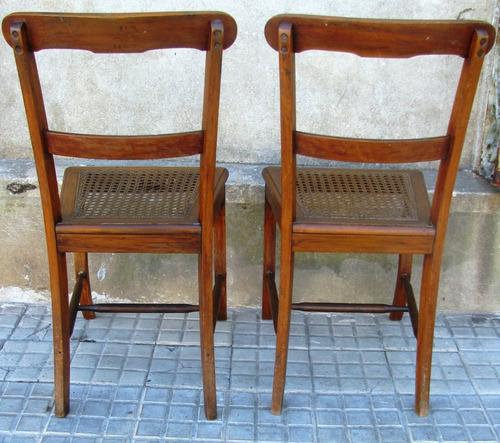 2 sillas antiguas esterilladas para dormitorio