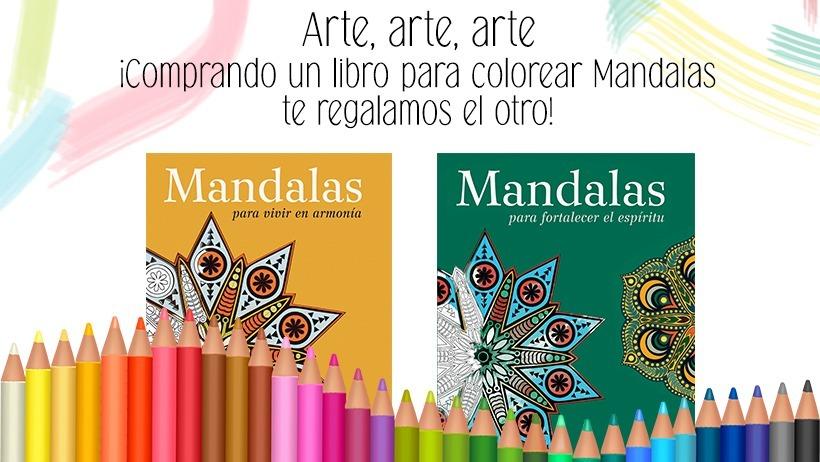 2 X 1 Libro Para Colorear Mandalas - $ 265,00 en Mercado Libre