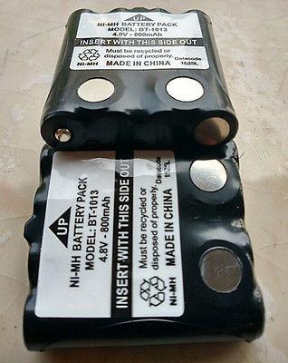 2 x paquete de batería ni-mh para radio motorola walkie talk