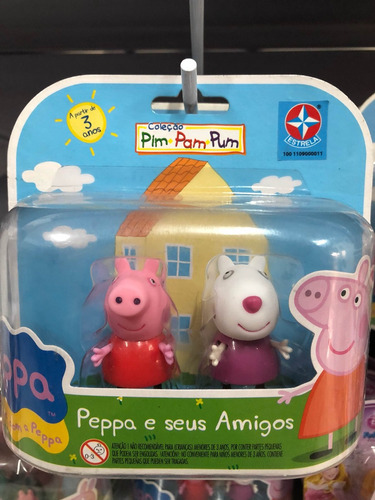 2 x peppa pig e seus amigos colecionáveis