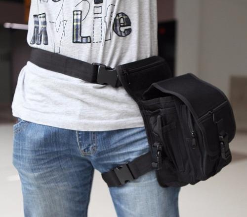 2 x1 mochila maletin táctica militar pouch cintura muslera