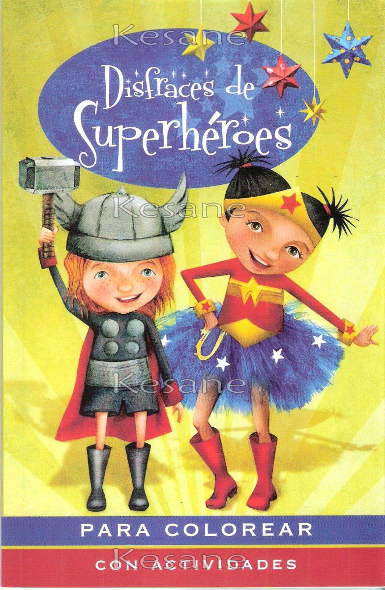 20 Libros Para Iluminar Colorear Superhéroes Fiestas Paquete ...