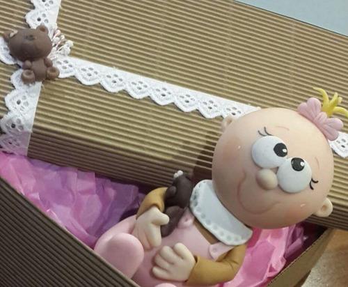 20 souvenirs de nacimiento nena y bebe grande
