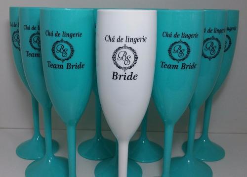 20 taças acrílico personalizadas chá de lingerie bride noiva