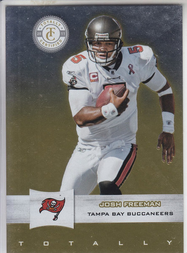 2012 totally certified gold josh freeman 01/25 qb buccaneers