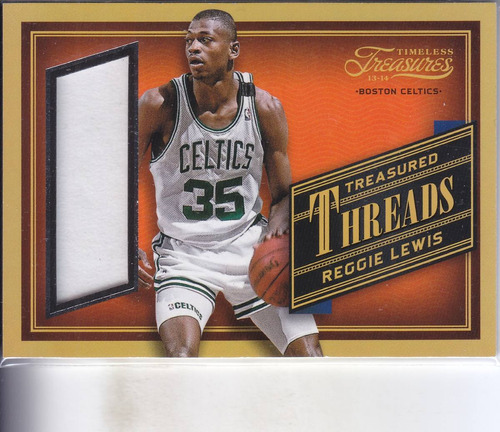 2013-14 timeless treasures jersey reggie lewis celtics