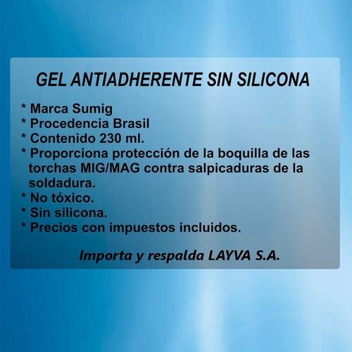 201330 gel antiadherente sin silicona sumig brasil layva
