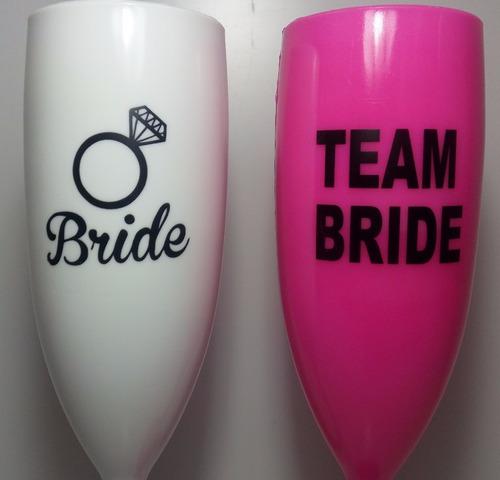 21 taças personalizadas bride e team bride noiva casamento