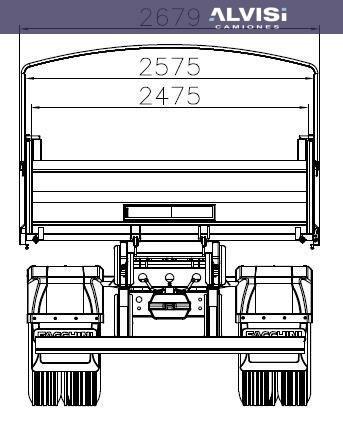 24-280 volcadora 10m3 rebatible enganche a/a precio sin iva