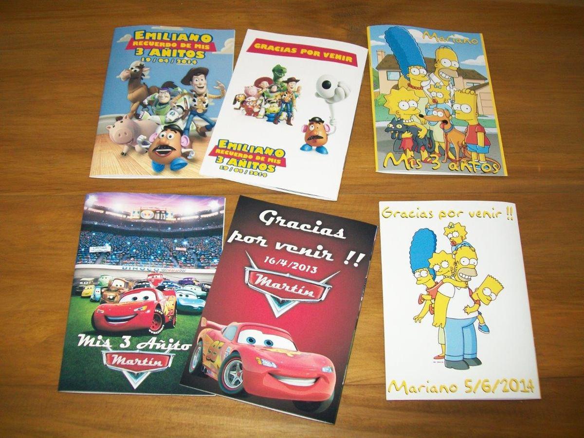 25 Libritos Personalizados Colorear Pintar Cumpleaños Libros - $ 175 ...