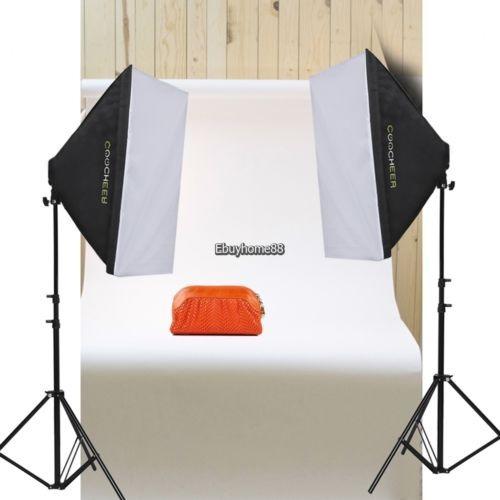 2pc foto estudio continua fotografía iluminación softbox sof