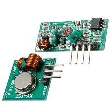2pç módulo rf transmissor receptor 433mhz, arduino