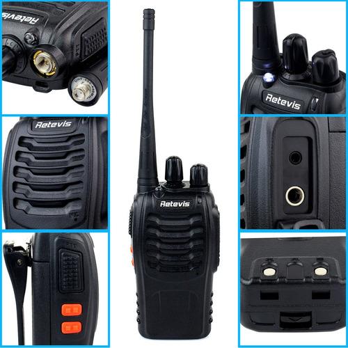 2pc retevis h777 2 vías de walkie talkie 16ch uhf ctcss/dcs