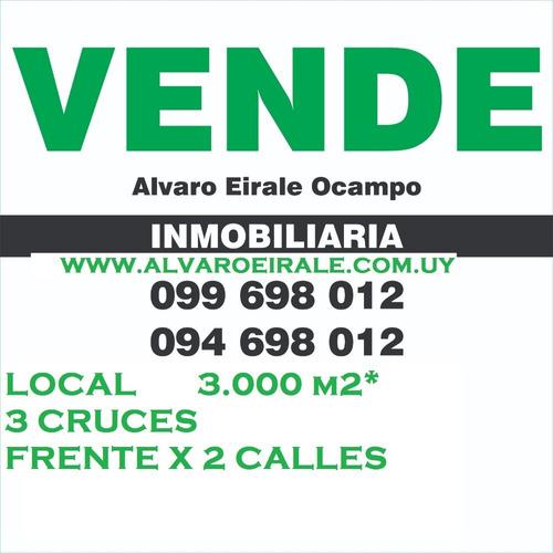 3 cruces local 3.000 m2* frente x 2 calles
