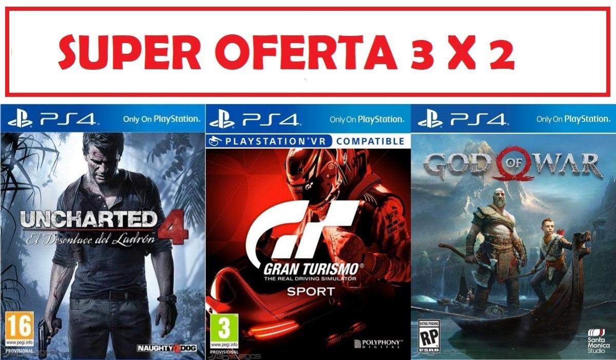 3 Juegos De Play 4 Pack Oferta 3 X 2 Nuevos Con Garantia U S 120