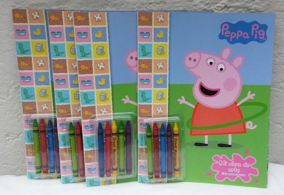 3 Libros Para Colorear 32 Pag Peppa Pig Crayolas Fiestas - $ 72.00 ...