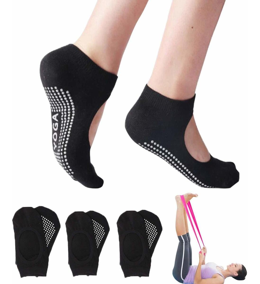 patrones de moda Cantidad limitada mitad de descuento 3 Pares De Calcetines Antideslizantes Para Mujer Con Band