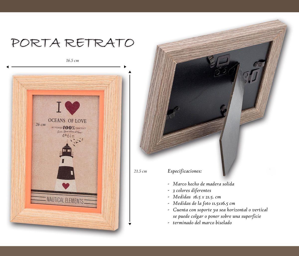 3 Portarretratos Madera M008 Adorno Hogar Regalo Dia Mama - $ 249.00 ...
