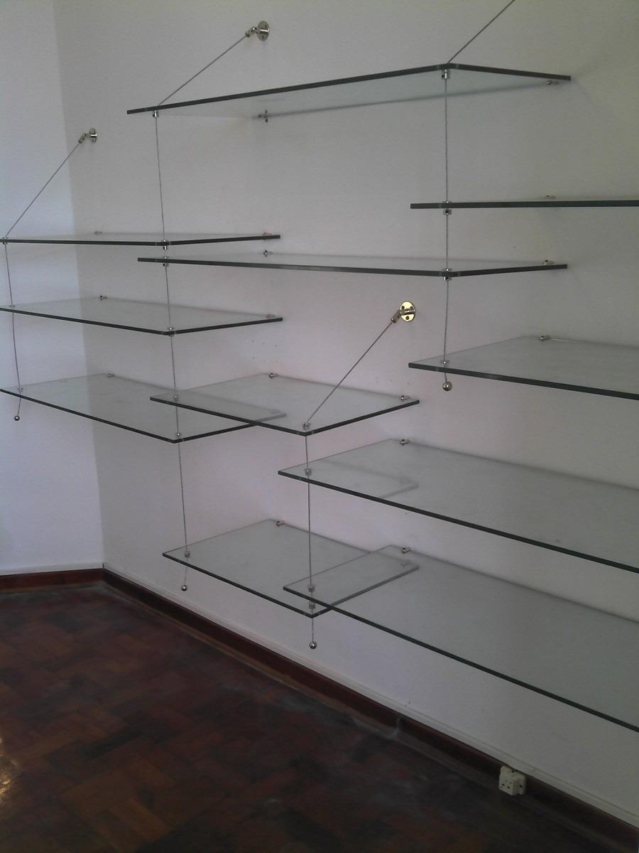 3 tres Estantes De Vidrio Con Sistema De Cabletensores 4100
