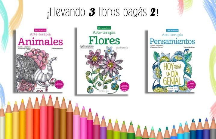 3 X 2 Libros Para Colorear Armonía De Color - $ 738,00 en Mercado Libre