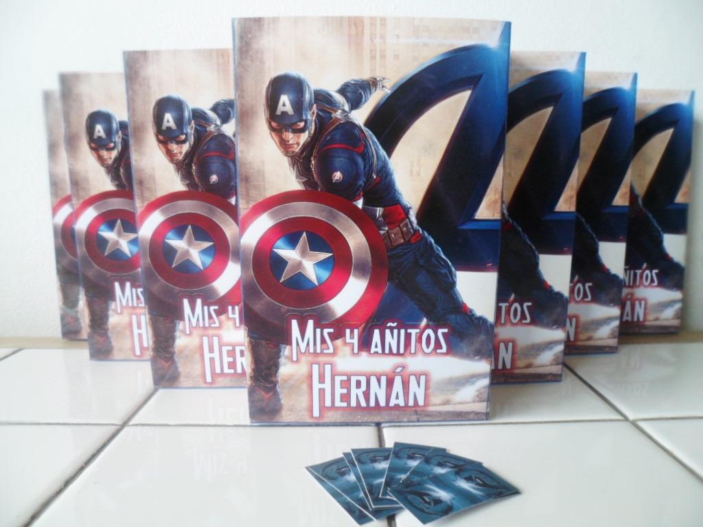 30 Bolsitas Y 30 Libritos Colorear Capitan America Lomas - $ 780,00 ...
