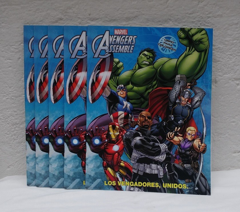 30 Libros Colorear Avengers 16 Pag Fiesta Avengers - $ 340.00 en ...