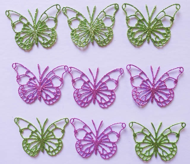 30 Mariposas Goma Eva Brillantina Souvenir Babyshower 6 Cms 330 - Fotos-de-goma-eva