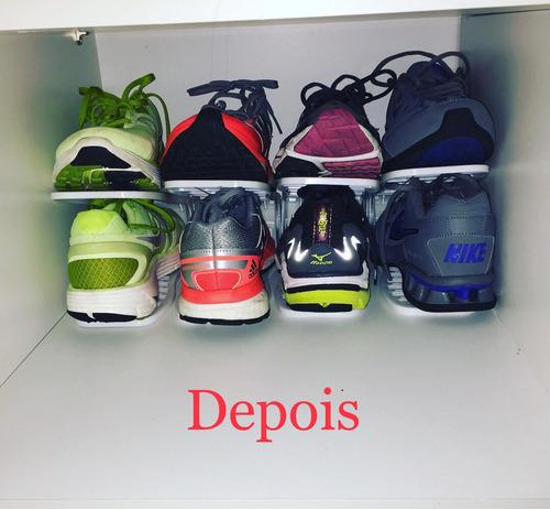 30 und organizador de sapatos rack ajustável sapateira