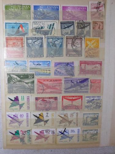 34 sellos de aviones ( b1905)