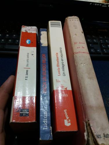 4 libros un milagro en equilibro un mundo mejor p d james