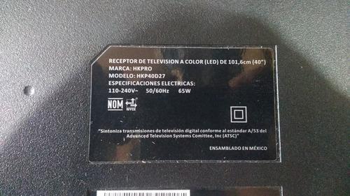 40-0ms39n-mac2hg main led hkpro modelo hkp40d27