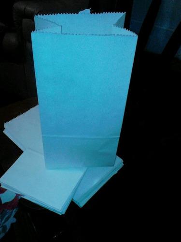 40 bolsita papel blancas y marron 16 x 26 cm pago c vendedor