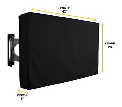 42 pulgadas negro impermeable al aire libre tv televisión cu