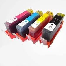 4cartuchos compatible 670xl p/ hpdeskjet/3525/4615/4625/5525