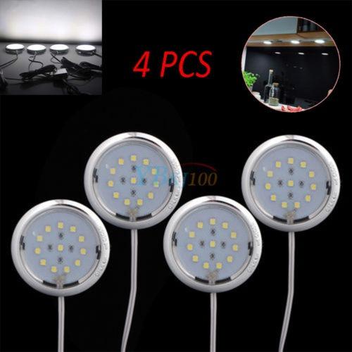 Led 4pcs Fría Bajo Luz Cocina Lámpara De Iluminación Blanca kwn0OX8P