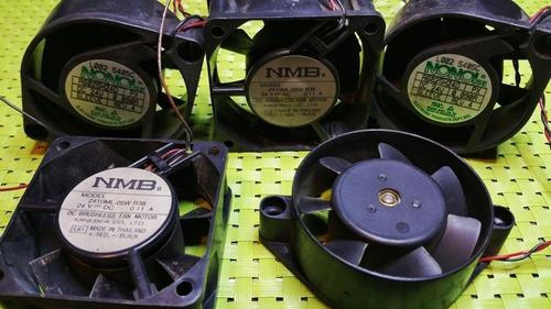 5 fancooler 6cm x 6cm x 2,5cm  12v  usados ok