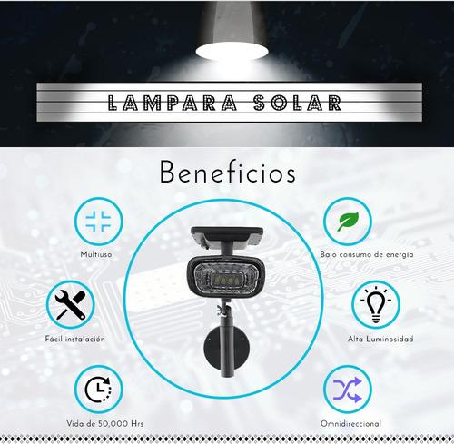 5 lamparas energia solar led decorativa exteriores