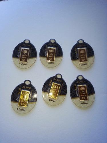 5 lingotes de oro 1 gramo de 24 kilates oro fino total 5 grs