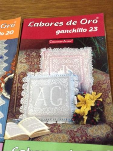 5 revistas tejidos crochet ganchillo labores de oro motivos