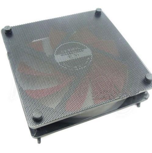 5 x 120mm pvc negro cortado ventilador pc polvo filtro caso