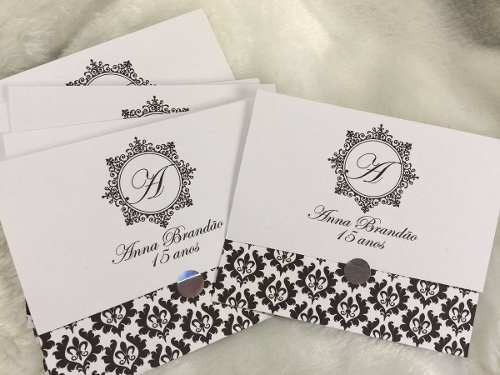 50 convites r$ 1,00 cada 15 anos debutante casamento luxo