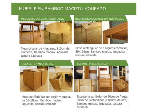 50% off - deck modular de bamboo - hasta agotar sock.