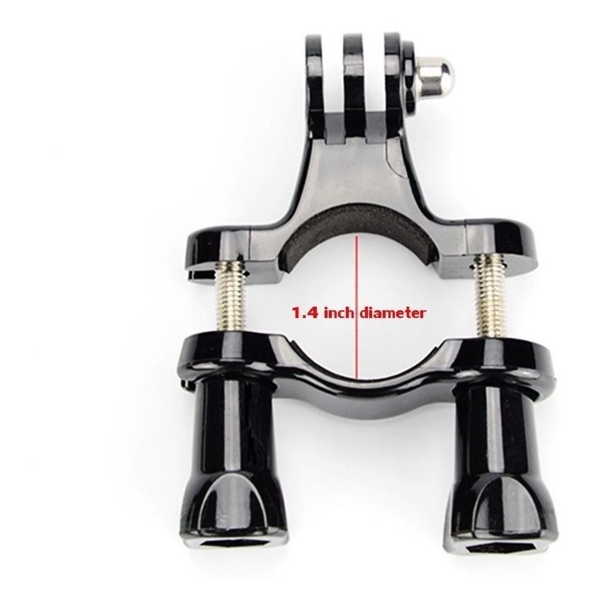 Bicicleta Motocicleta Manillar Tija de sillín abrazadera de montaje en poste soporte para GoPro Hero 5 4 3+
