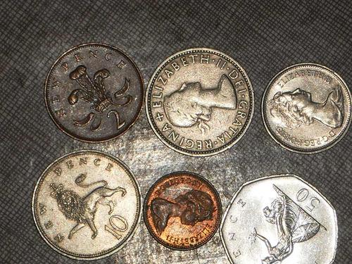 6 monedas de inglaterra