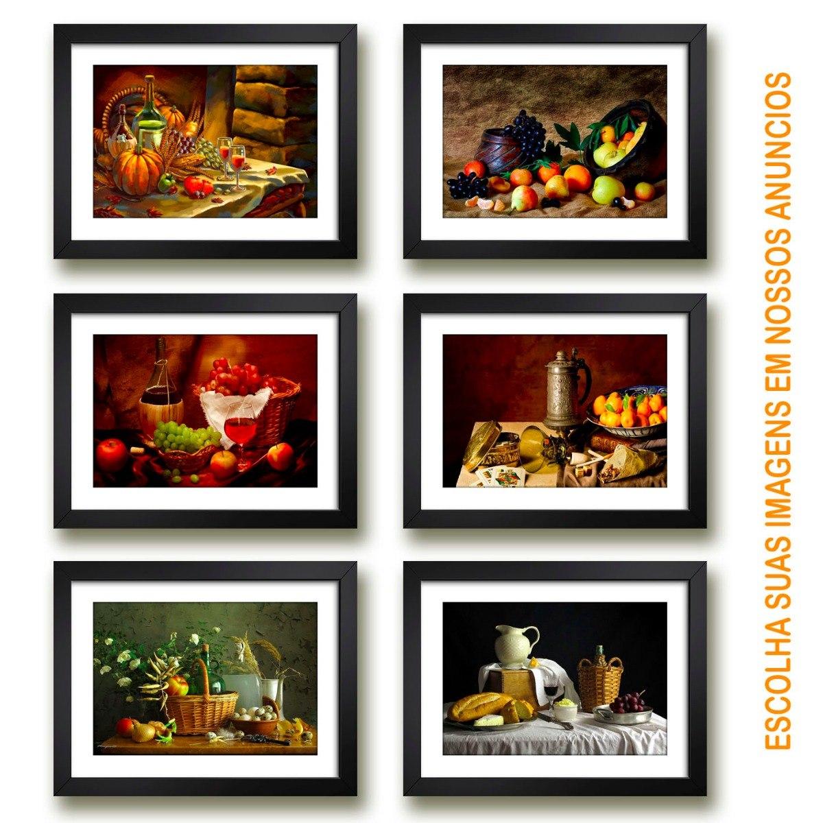 6 Quadros Decorativos Cozinha Copa Chef Restaurante Gourmet R 675
