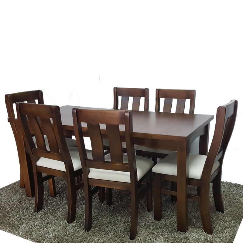 6 Sillas Y Mesa Para Cocina Y Comedor En Madera Maciza Gh - $ 22.490 ...