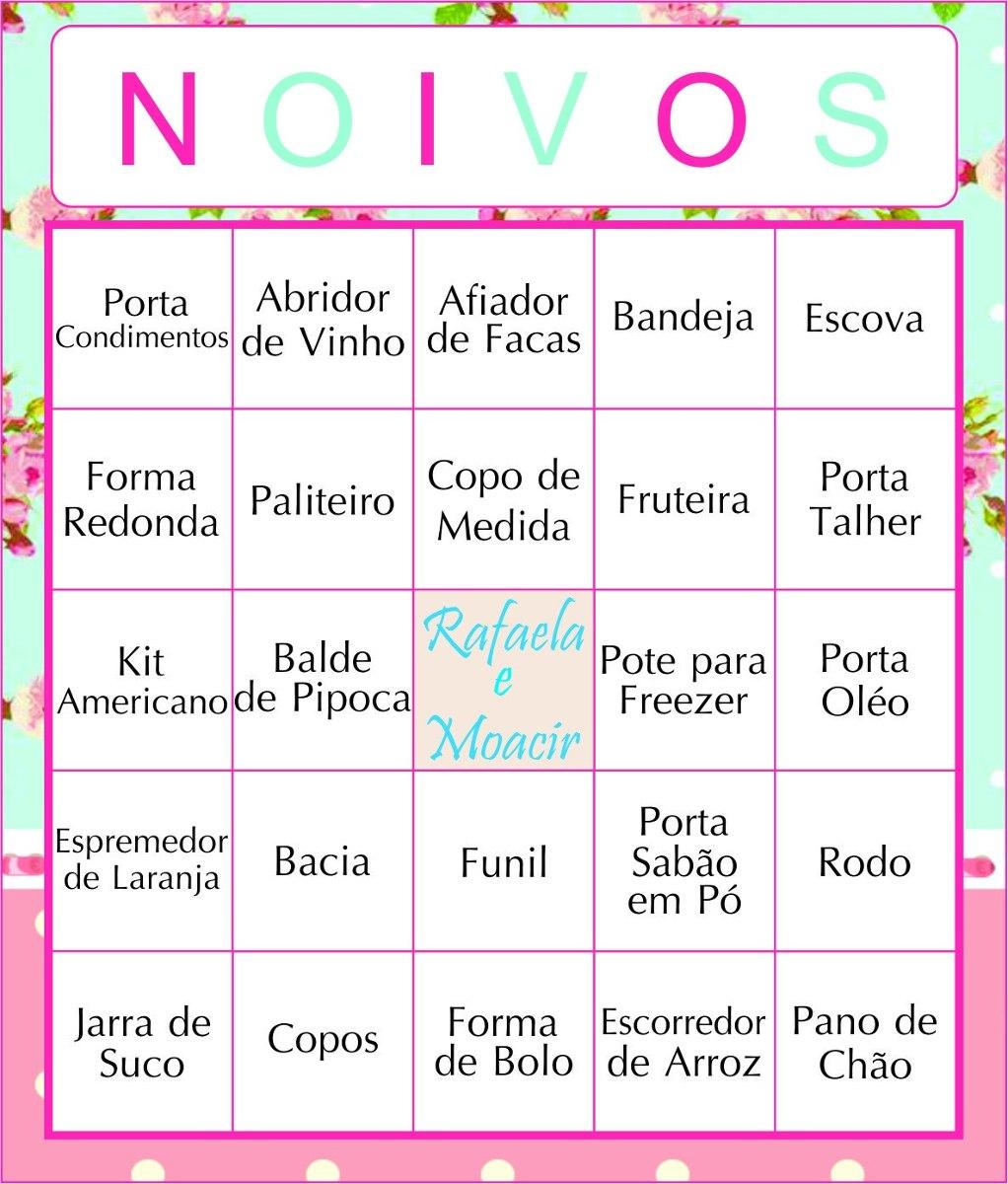 60 Cartelas Bingo Ch De Panela Personalizada Envio Email R 28 00